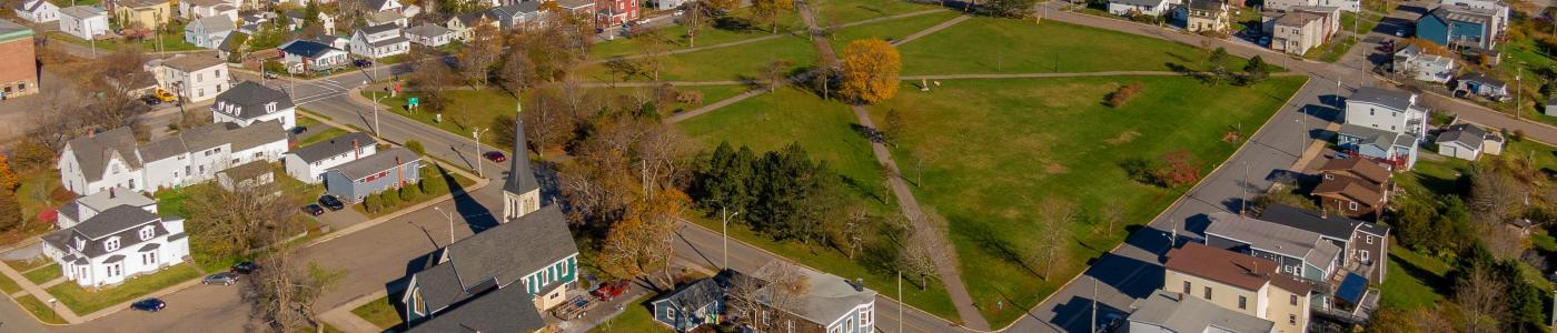 Aerial of Queen Square West
