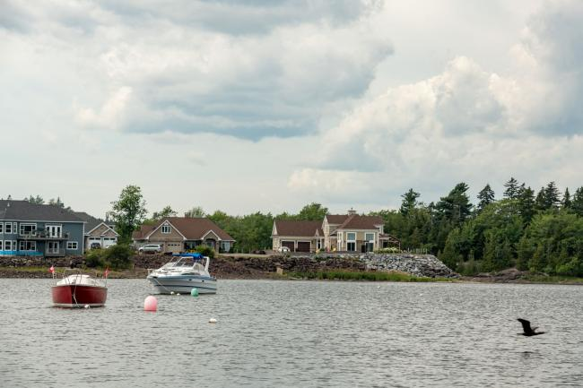 Homes on the shores of the Kennebecasis River
