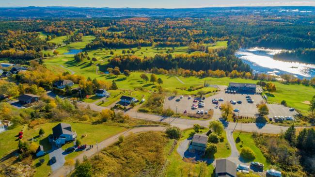 Aerial of Rockwood Park Golf Course and area